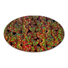 Red Corals Oval Magnet