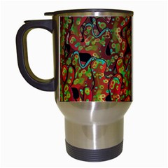 Red Corals Travel Mugs (white) by Valentinaart