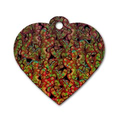 Red Corals Dog Tag Heart (one Side) by Valentinaart