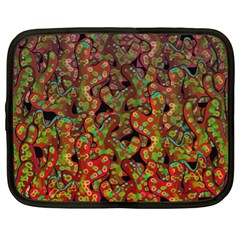 Red Corals Netbook Case (xl)  by Valentinaart