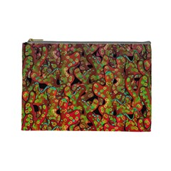 Red Corals Cosmetic Bag (large)  by Valentinaart