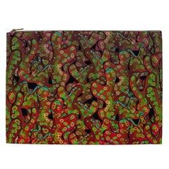 Red Corals Cosmetic Bag (xxl)  by Valentinaart