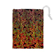 Red Corals Drawstring Pouches (large)  by Valentinaart