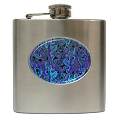 Blue Coral Hip Flask (6 Oz) by Valentinaart