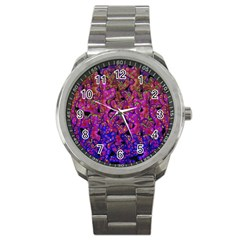 Purple Corals Sport Metal Watch by Valentinaart