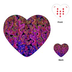 Purple Corals Playing Cards (heart)  by Valentinaart