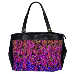 Purple Corals Office Handbags (2 Sides)  by Valentinaart