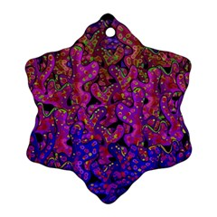Purple Corals Snowflake Ornament (2 Side)