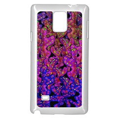 Purple Corals Samsung Galaxy Note 4 Case (white) by Valentinaart