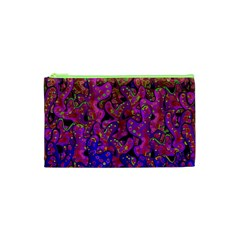 Purple Corals Cosmetic Bag (xs) by Valentinaart