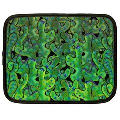 Green Corals Netbook Case (xxl)  by Valentinaart