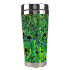 Green Corals Stainless Steel Travel Tumblers by Valentinaart