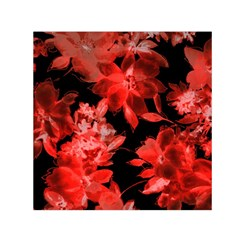 Red Flower  Small Satin Scarf (square) by Brittlevirginclothing