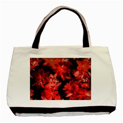Red Flower  Basic Tote Bag (two Sides) by Brittlevirginclothing