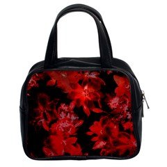 Red Flower  Classic Handbags (2 Sides) by Brittlevirginclothing