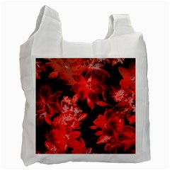 Red Flower  Recycle Bag (one Side) by Brittlevirginclothing