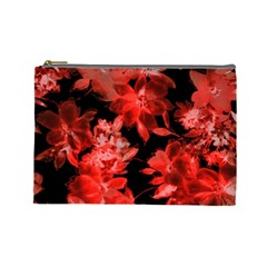 Red Flower  Cosmetic Bag (large)  by Brittlevirginclothing