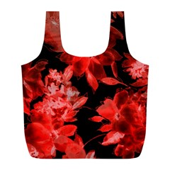 Red Flower  Full Print Recycle Bags (l)  by Brittlevirginclothing