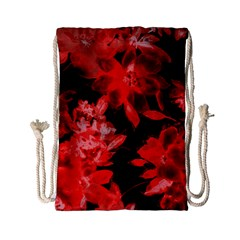 Red Flower  Drawstring Bag (small) by Brittlevirginclothing