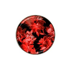 Red Flower  Hat Clip Ball Marker (4 Pack) by Brittlevirginclothing