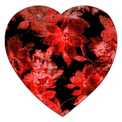 Red Flower  Jigsaw Puzzle (heart)