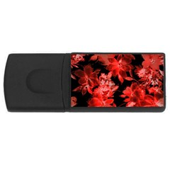 Red Flower  Usb Flash Drive Rectangular (4 Gb)  by Brittlevirginclothing