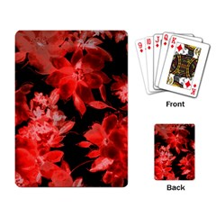 Red Flower  Playing Card by Brittlevirginclothing