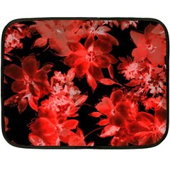Red Flower  Fleece Blanket (mini) by Brittlevirginclothing