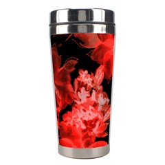 Red Flower  Stainless Steel Travel Tumblers by Brittlevirginclothing