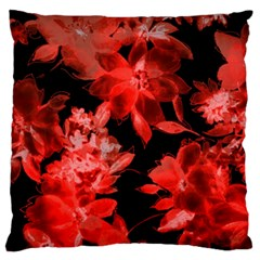 Red Flower  Standard Flano Cushion Case (two Sides) by Brittlevirginclothing