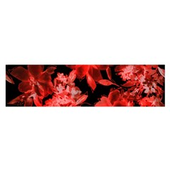 Red Flower  Satin Scarf (oblong) by Brittlevirginclothing