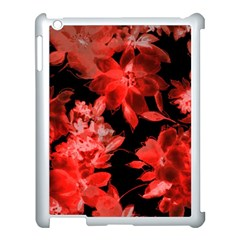 Red Flower  Apple Ipad 3/4 Case (white) by Brittlevirginclothing