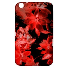Red Flower  Samsung Galaxy Tab 3 (8 ) T3100 Hardshell Case  by Brittlevirginclothing