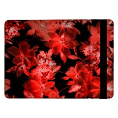 Red Flower  Samsung Galaxy Tab Pro 12 2  Flip Case by Brittlevirginclothing