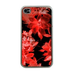 Red Flower  Apple Iphone 4 Case (clear) by Brittlevirginclothing