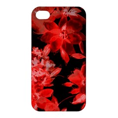 Red Flower  Apple Iphone 4/4s Hardshell Case by Brittlevirginclothing