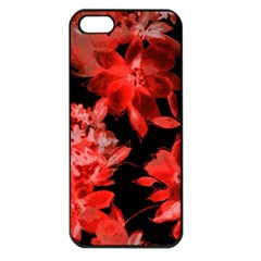 Red Flower  Apple Iphone 5 Seamless Case (black)