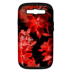 Red Flower  Samsung Galaxy S Iii Hardshell Case (pc+silicone) by Brittlevirginclothing