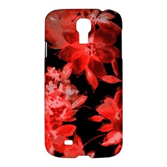 Red Flower  Samsung Galaxy S4 I9500/i9505 Hardshell Case by Brittlevirginclothing