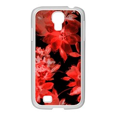 Red Flower  Samsung Galaxy S4 I9500/ I9505 Case (white) by Brittlevirginclothing
