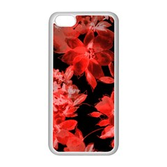 Red Flower  Apple Iphone 5c Seamless Case (white)