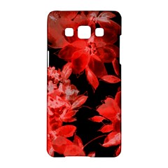 Red Flower  Samsung Galaxy A5 Hardshell Case  by Brittlevirginclothing