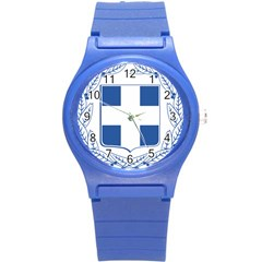 Coat Of Arms Of Greece Round Plastic Sport Watch (s) by abbeyz71