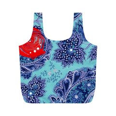 Red Pearled Roses Full Print Recycle Bags (m)  by Brittlevirginclothing