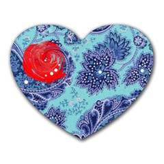 Red Pearled Roses  Heart Mousepads by Brittlevirginclothing