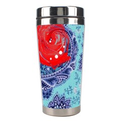 Red Pearled Roses  Stainless Steel Travel Tumblers by Brittlevirginclothing