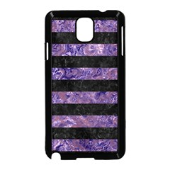 Stripes2 Black Marble & Purple Marble Samsung Galaxy Note 3 Neo Hardshell Case (black) by trendistuff