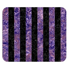 Stripes1 Black Marble & Purple Marble Double Sided Flano Blanket (small)
