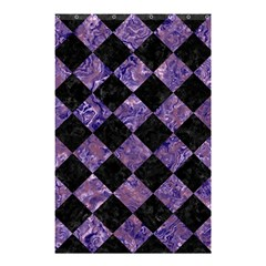 Square2 Black Marble & Purple Marble Shower Curtain 48  X 72  (small) by trendistuff