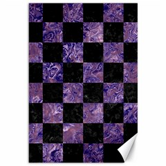Square1 Black Marble & Purple Marble Canvas 12  X 18  by trendistuff